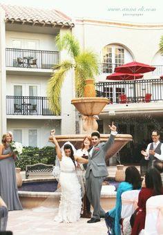 Now presenting Mr. & Mrs. Rafiq! WooHoo! Blissful!
