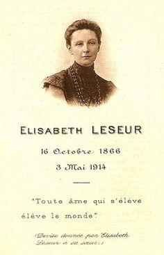 Elisabeth Leseur Cause for Canonization | Prièrecomposée par Élisabeth Leseur