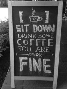 Chalkboard coffee sign
