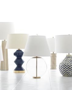 Table lamps via Serena & Lily