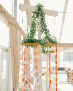 Lizzy and Bucky's Lakeside Michigan Destination Wedding - The Hanging Display