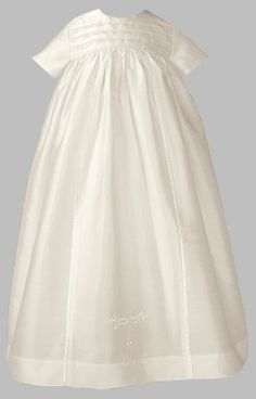 Unisex Christening Gowns Fine Silk Famliy Heirloom Baptism Set