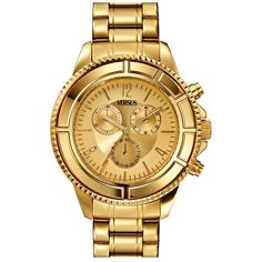 VERSUS by Versace 'Tokyo' Chronograph Bracelet Watch, 44mm Rose Gold... (8.155 CZK) ❤ liked on Polyvore featuring jewelry, watches, accessories, bracelets, joyas, chronograph dial watch, dial watches, watch bracelet, red gold jewelry and rose gold chronograph watch