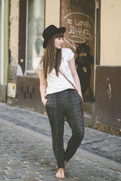 multi-color-(bw) pants   #fashion #streetstyle   http://lkl.st/1wwOdYd   See more on https://www.lookli.st #Looklist