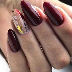 Classy Nails, Fancy Nails, Stylish Nails, Pretty Nails, Mauve Nails, Burgundy Nails, Round Nails, Oval Nails, Almond Nails Designs