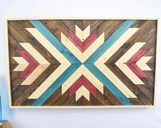 Reclaimed Wood Wall Art Southwestern Art by RoamingRootsWoodwork