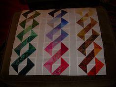 Using half square triangles from: nancynearphiladelphia.blogspot.com