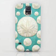 Sand Dollars Samsung Galaxy S5 Case by Lisa Argyropoulos #case #samsung #galaxyS5 #cover #accessories #sanddollars #pretty #cute #beach #beachy #ocean #shells #seashells #trendy #stylish #turquoise #teal #aqua #beige #popular
