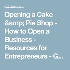 Business plan template samples and advice businessnewsdaily opening a cake pie shop how to open a business resources for entrepreneurs friedricerecipe Images