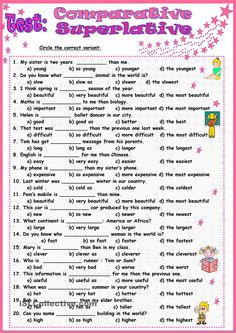 Fine Grammar Practice Worksheets Comparatives And Superlatives Answers that you must know, Youre in good company if you?re looking for Grammar Practice Worksheets Comparatives And Superlatives Answers English Adjectives, English Verbs, English Vocabulary Words, English Phrases, Learn English Words, English Lessons, English Test, English Grammar Exercises, Teaching English Grammar