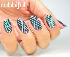 Nailpolis Museum of Nail Art | Crazy Striping Tape Pattern! by Cubbiful