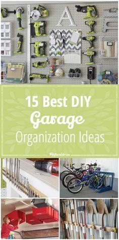 15 Best DIY Garage Organization Ideas via @tipjunkie