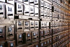 I'd have so many old wooden card catalogues in my home