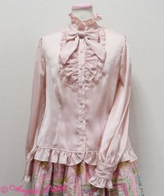 Lolibrary | Angelic Pretty - Blouse - Stripe Chiffon Party Blouse
