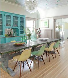 Kitchen-Hygge-&-West-Daydream-wallpaper-via-DiCorcia-Interior-Design-NY-NJ