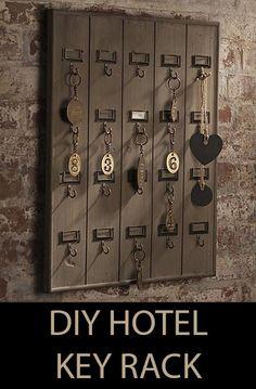 DIY Wall Mounted Wooden Hotel Key Rack