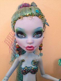 Monster High Abbey Mermaid Ooak Custom Repaint Reroot By Donna Of Fantasy Dolls #Dolls