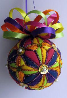 Kaleidoscope Kimekomi Ornament by OrnamentDesigns on Etsy