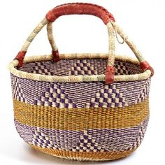 Ghana Bolga Baskets - I have gotten one (at least) each year in Alaska...transplanting, now, to the OBX!!