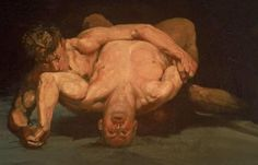 The Wrestlers by George Luks, 1905