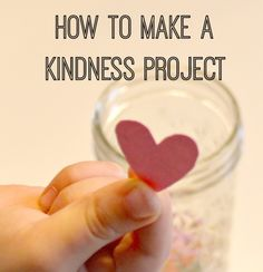 Perfect project to encourage kindness at home and decrease sibling rivalry.