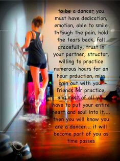 I haven't danced for a while and I truly feel like a part of my heart is missing. It has become a part of me