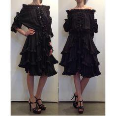 Silk dress by Faith Connexion and shoes by Saint Laurent Paris at #ilduomonovara