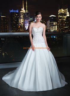 Vestidos de novia escote corazon de tafetan abalorio