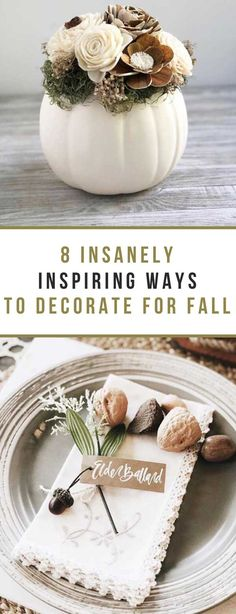 Sometimes, it's pretty easy to get hung up in a decor rut, especially if you're a creature of habit naturally (talking to myself here). It's times like this that social media is super handy. There is an enormous amount of inspiration on the internet these days, ranging from over-the-top glamorous to simple and classic decor. | #fall #pumpkins #homedecor #diy