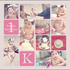 Baby's 1 year. Cake smashing photo session!  A must!