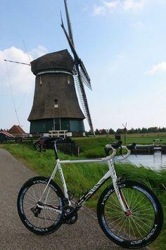 Nice bike and beautiful windmill