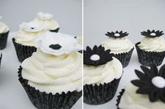 One of the most interesting colour combination for cake designs is black and white- with two colours at different ends of the spectrum Black And White Cupcakes, White Cakes, 13th Birthday, Birthday Cakes, Cake Designs, Affair, Hair Ideas, Beautiful Things, Cupcake Cakes