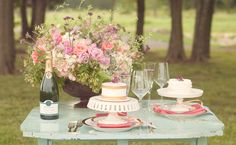 wedding table set up but needs more orange :)