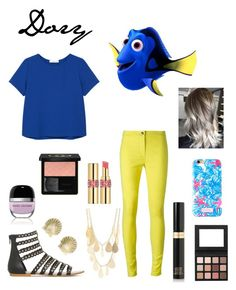 """""""Summer Style : Dory"""" by dawndreader ❤ liked on Polyvore featuring MANGO, Ann Demeulemeester, Tiffany & Co., Charlotte Russe, Yves Saint Laurent, Gucci, Lilly Pulitzer, Tom Ford and Marc Jacobs"""