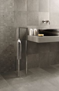 Grey Coloured Bathroom Tiles Granite Renos Renovations Bathrooms