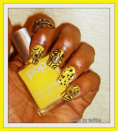 pop beauty (sunny) base and ring finger China glaze (whirled away). I used bm-422. The claw ring is from born pretty store.