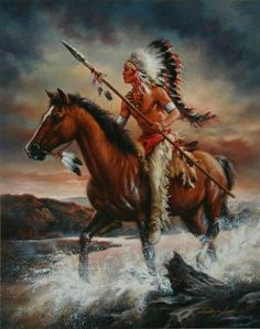 Native Americans Indians Braves by Russ Docken Interesting piece. Native American Horses, Native American Warrior, Native American Paintings, Native American Pictures, Native American Beauty, Indian Pictures, Native American Artists, American Indian Art, Native American History