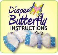 Learn To Make A Unique Baby Shower Gift Item - The Diaper Butterfly