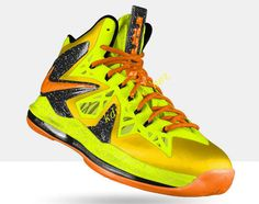 19c9f554fc51 Cheap Lebron 10 P.S Elite Mens Basketball Shoes Electric Yellow ViVid Orange