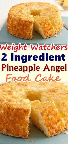 WW PINEAPPLE ANGEL FOOD CAKE Angel food cake gets this name for a reason. It is truly divine ! The uniquely light and fluffy texture made people believe it resembles the 'food of the angels'.Angel food cake gets this name for a re. Weight Watcher Desserts, Weight Watchers Kuchen, Weight Watchers Meals, Skinny Recipes, Ww Recipes, Gourmet Recipes, Low Carb Recipes, Cooking Recipes, Waffle Recipes