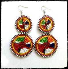 Beaded Maasai Earrings by Sipdada on Etsy