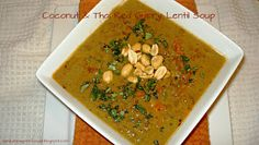 Coconut & Thai Red Curry Lentil Soup - A New York Foodie