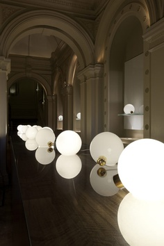 British designer Mark Holmes' lamp shaped like an incandescent bulb for Minimalux
