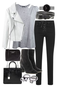 """Untitled #20096"" by florencia95 ❤ liked on Polyvore featuring rag & bone, Étoile Isabel Marant, R13, Acne Studios, Topshop and Yves Saint Laurent"