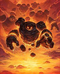 Card Name: Firesworn Artist: #Blizzard Entertainment