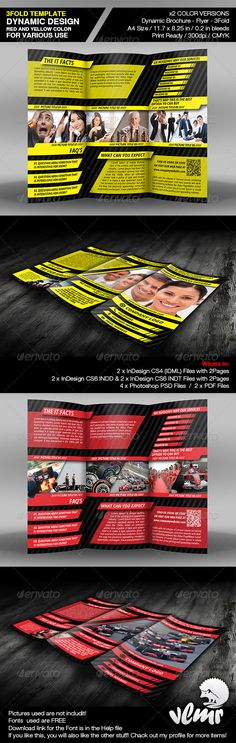 Dynamic Brochure 3Fold Template from Dynamic promo colection.