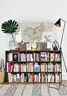 Bookshelf styling inspiration.