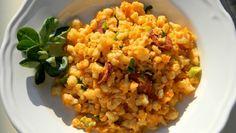 Tojásos-medvehagymás nokedli kolbásszal Pasta Dishes, Fried Rice, Risotto, Fries, Vegetables, Ethnic Recipes, Food, Spring, Essen