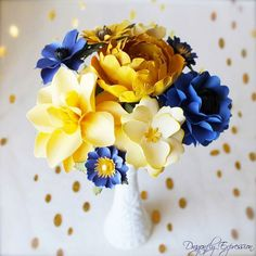 Items similar to Fleur de Provence Inspired - MIX Flowers - Handmade Paper Flowers -Set of 7 - On stems - Made to Order - Customize your style and colors on Etsy Beehive, Paper Flowers, Your Style, Etsy, Plants, Handmade, Wedding, Color, Inspiration