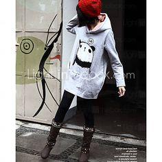 los patrones de Panda polar sudaderas con capucha en el interior de la mujer (8504ba004-0736)